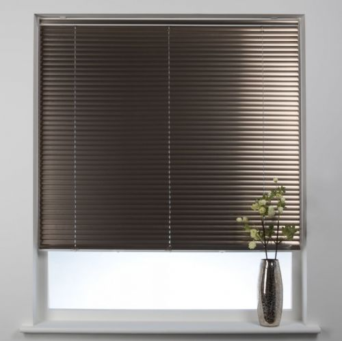 Swish Cordless 25mm Aluminium Venetian Blind - Brushed Bronze